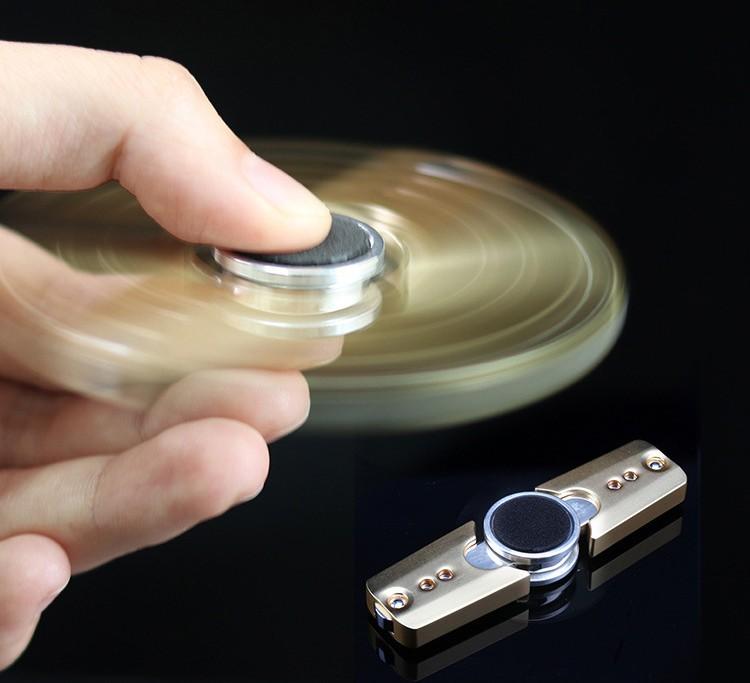 [해외]자폐증 및 ADHD 회전 시간에 대한 EDC 두 잎 감압 티타늄 합금 핸드 스피너 긴 안티 스트레스 핑거 스피너/EDC Two Leaves Decompression Titanium Alloy Hand Spinner For Autism And ADHD Rotati