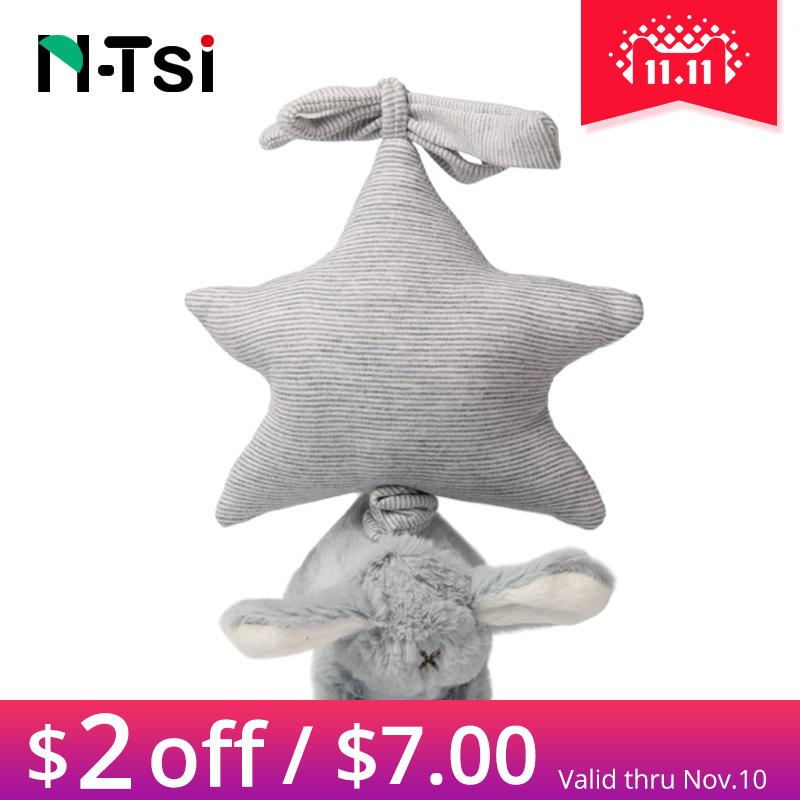 [해외]N-Tsi 부드러운 봉제 버니 바람 뮤지컬 인형 놀이 멜로디 아기 어린이 침대 유모 자동차 어린 이용 어린이 놀이 장난감/N-Tsi Soft Plush Bunny Wind Up Musical Stuffed Animal Play Melody Baby Crib St