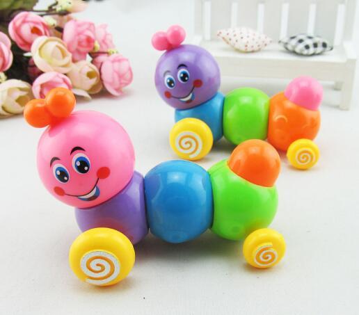 [해외]귀여운 웜 장난감 미니 만화 시계 장난감 봄 벌레 어린이 장난감 유아 교육 장난감 임의 색상 YH991/Cute Worm Wind Up Toy Mini Cartoon Clockwork Spring Worm Children Toy Toddler Educationa