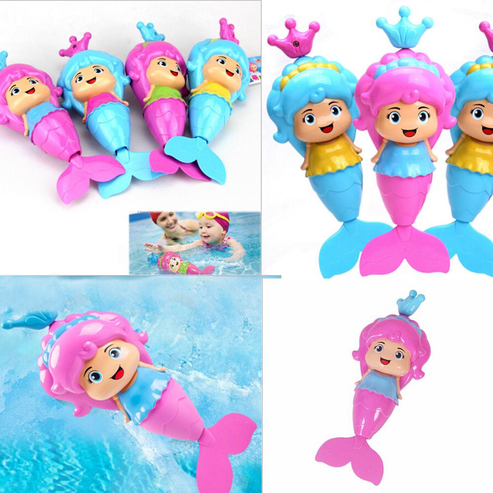 [해외]1PCS 아기 물 바람 위로 만화 교육 학습 장난감 귀여운 인어 시계 태우기 목욕 장난감 클래식 수영 장난감 위로 상처/1PCS Baby Water Wind Up Cartoon Educational Learning Toy Cute Mermaid Clockwork