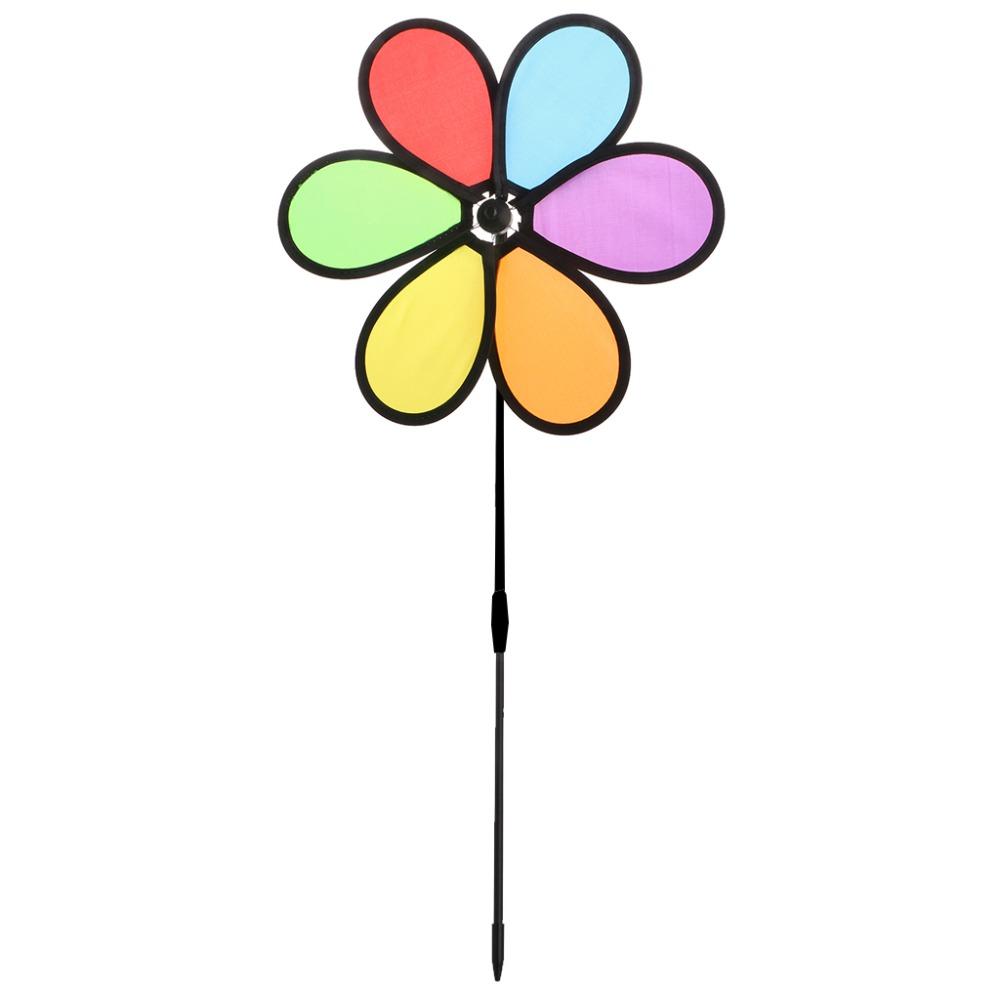[해외]1PC 화려한 레인보우 데이지 꽃 회 전자 풍차 어린이 완구 정원 정원 야외 장식 새로운/1PC Colorful Rainbow Dazy Flower Spinner Wind Windmill Kids Toys Garden Yard Outdoor Decor New
