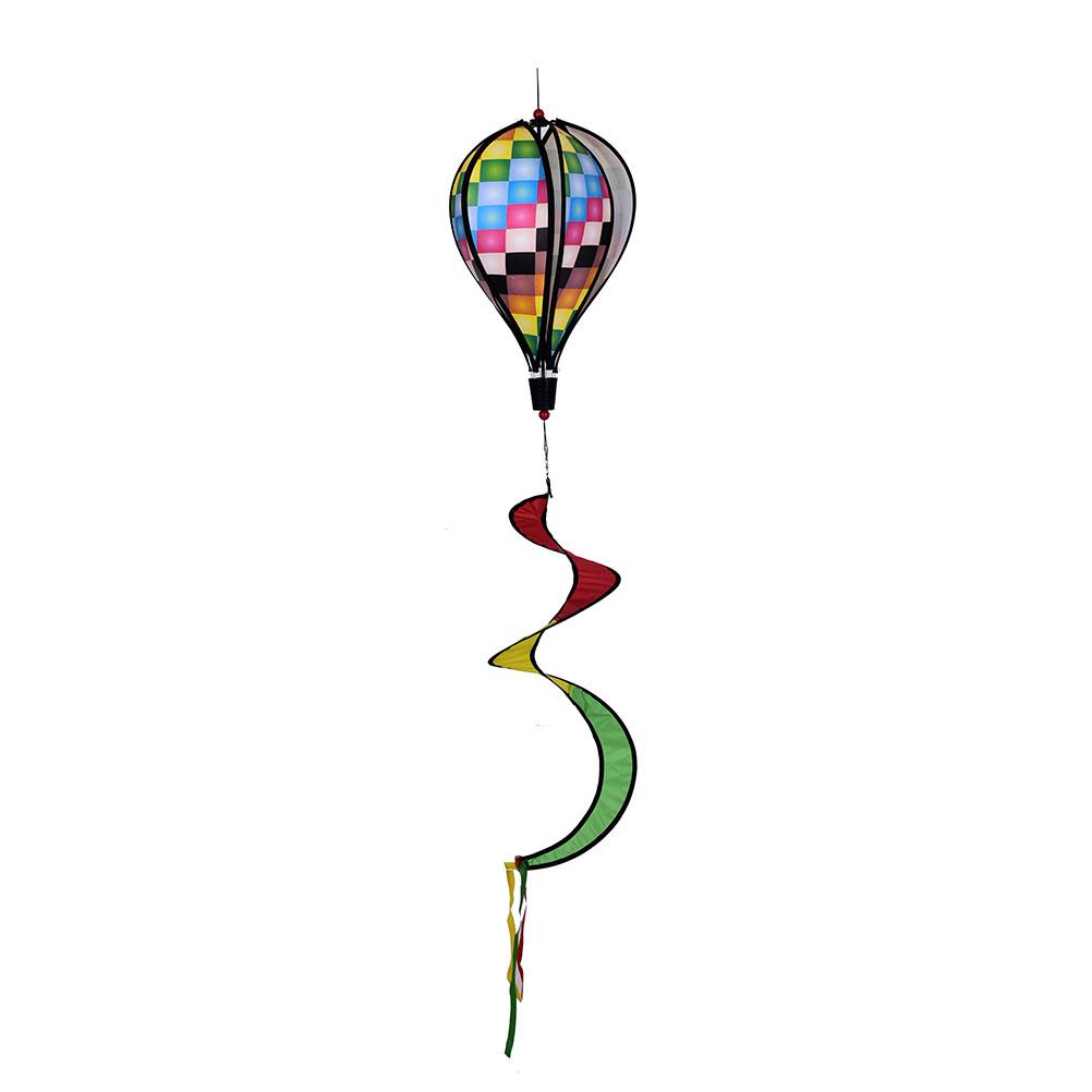 [해외]1PCS Hot 공기 풍선 그리드 풍차 바람 회 전자 정원 마당 야외 장난감 최신/1PCS Hot Air Balloon Grid Windmill Wind Spinner Garden Yard Outdoor Toy newest