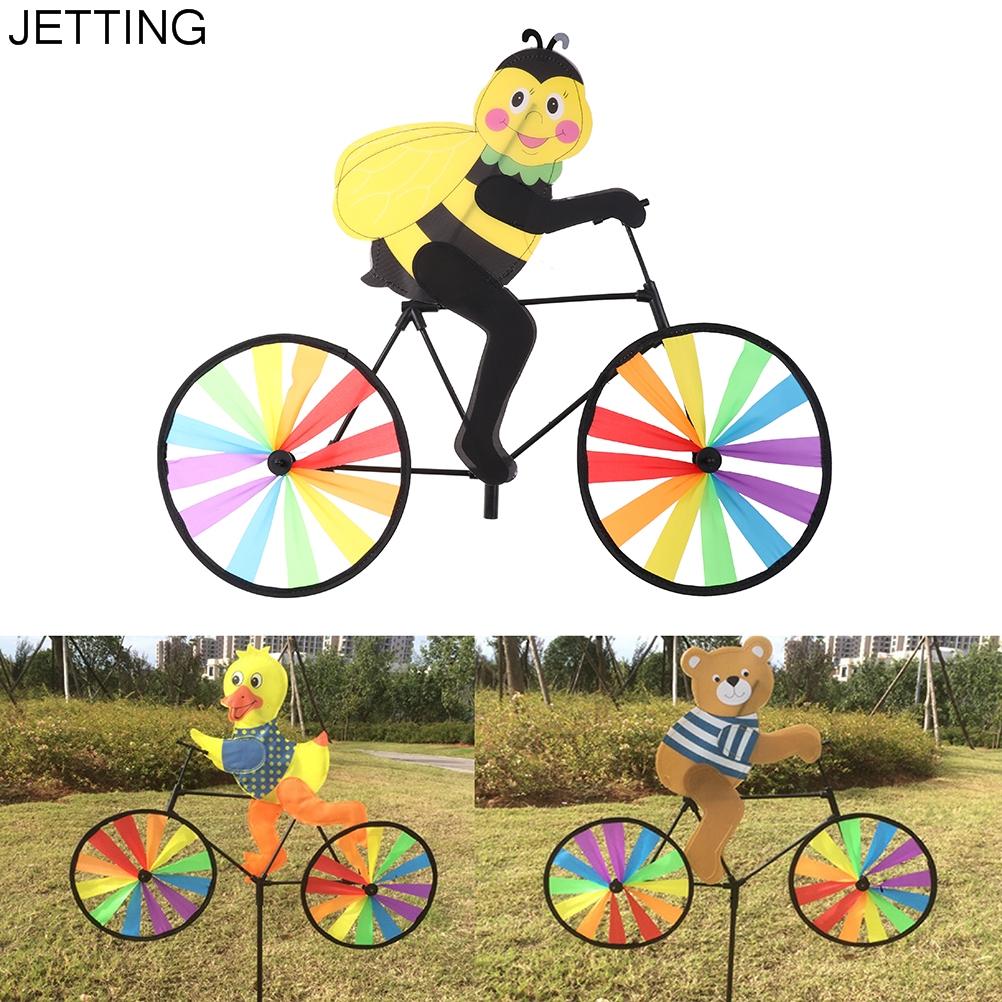 [해외]ZTOYL 1Pc 자전거 풍차에 귀여운 3D 동물 바람 회 전자 Whirligig 정원 잔디 정원 장식 어린이 장난감 스타일 색상 임의 보낸/ZTOYL 1Pc Cute 3D Animal on Bike Windmill Wind Spinner Whirligig Ga