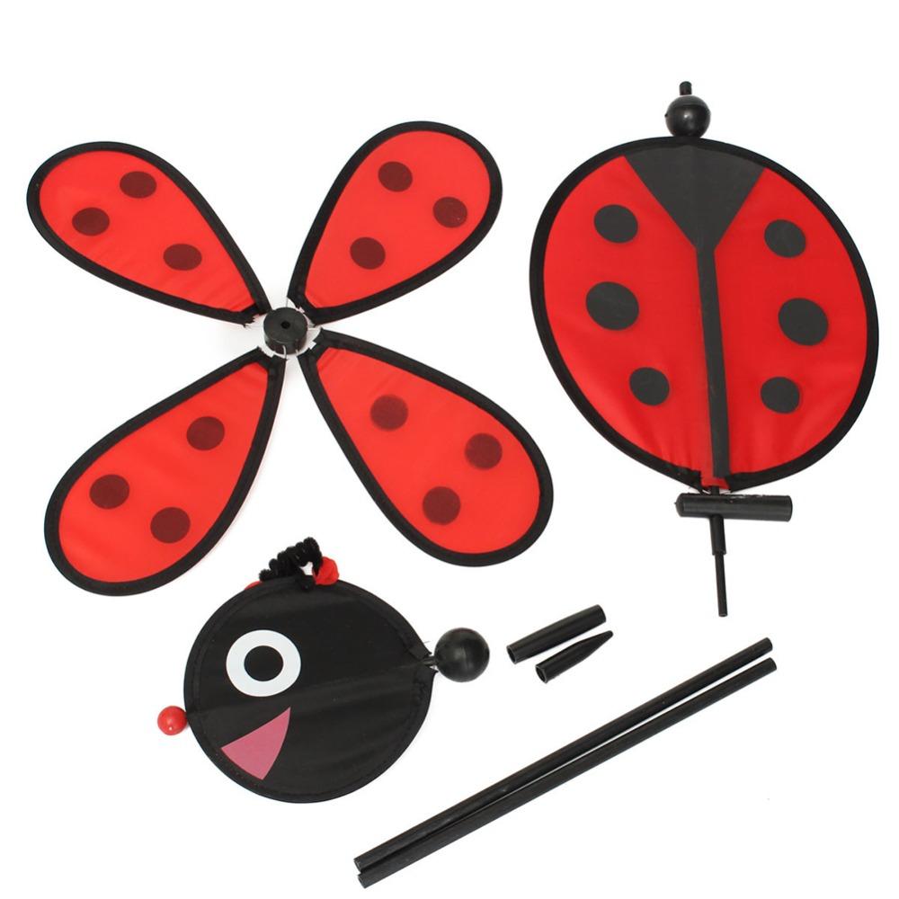 [해외]범블 비 / 무당 벌레 풍차 Whirligig 바람 스피너 홈 마당 가든 장식 클래식 완구/Bumble Bee/Ladybug Windmill Whirligig Wind Spinner Home Yard Garden Decor Classic Toys