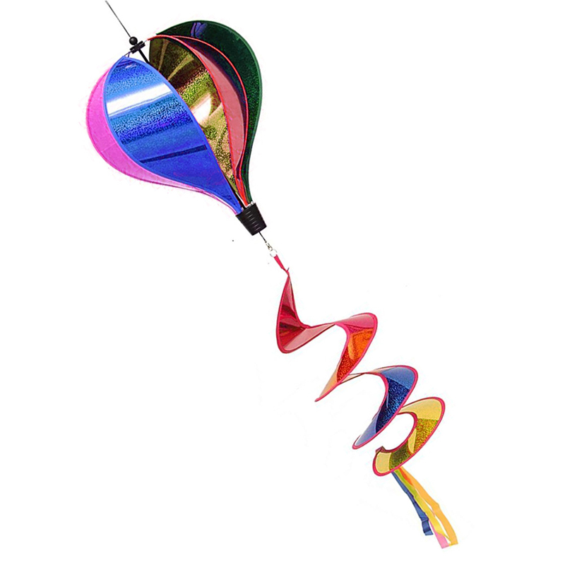 [해외]1Pc 레인보우 스팽글 Windsock 스트라이프 에어 풍선 바람 스피너 야외 야드 장식 어린이 장난감/1Pc Rainbow Sequins Windsock Striped Air Balloon Wind Spinner Outdoor Yard Decor Kids To