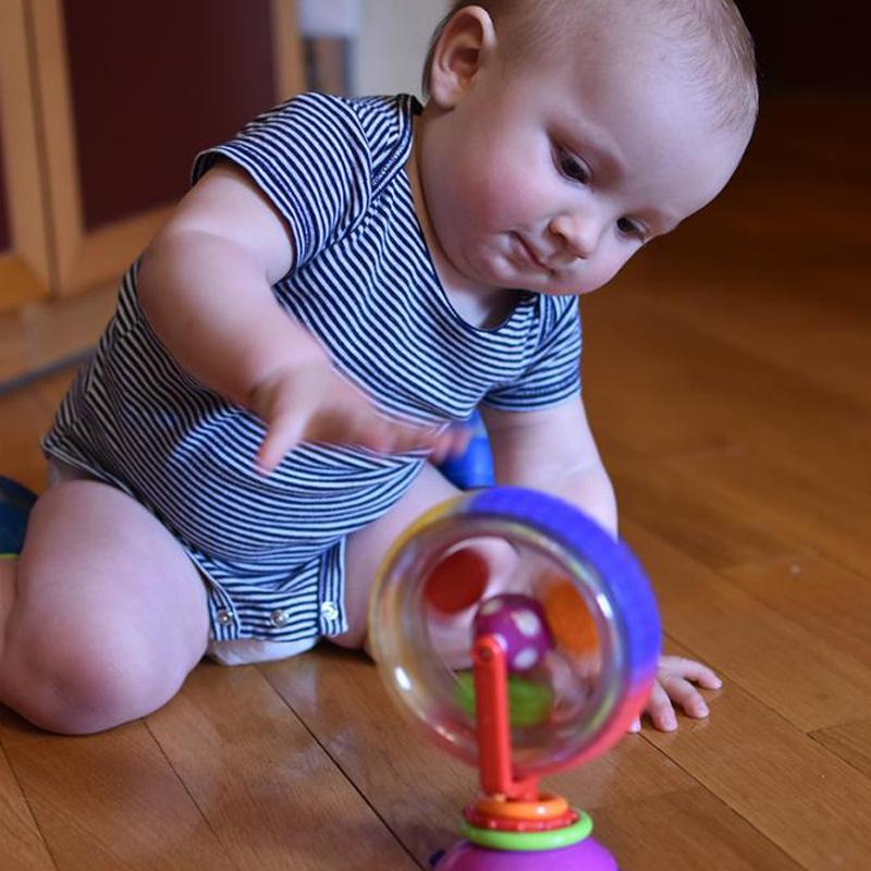 [해외]SCCJGL 아기 장난감 삼색 모델 회전 풍차 Noria 유모차 식사 의자 컵 교육 완구 유아용/SCCJGL Baby Toy Three-color model Rotating Windmill Noria Stroller Dining Chairsuction cups