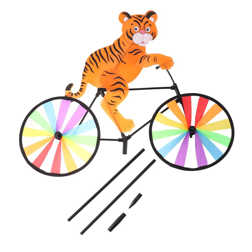 [해외]1Pc 자전거 풍차에 3D 동물 바람 회 전자 Whirligig 정원 잔디 정원 장식 스타일 어린이 장난감 색상 임의의 보낸 사람/1Pc 3D Animal on Bike Windmill Wind Spinner Whirligig Garden Lawn Yard De