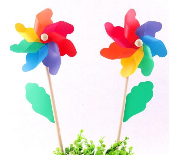 [해외]야외 놀이 Aescin 색상 풍차 다채로운 나무 장난감 웨딩 파티 레이아웃 휴일 드레스 100pcs / lot/Outdoor Play Aescin color windmill colorful wooden toy wedding party layout Holiday