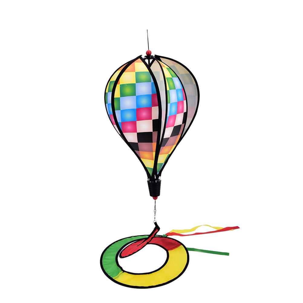 [해외]2017 1PCS Hot 공기 풍선 그리드 풍차 바람 회 전자 정원 마당 야외 장난감 최신/2017 1PCS Hot Air Balloon Grid Windmill Wind Spinner Garden Yard Outdoor Toy Newest