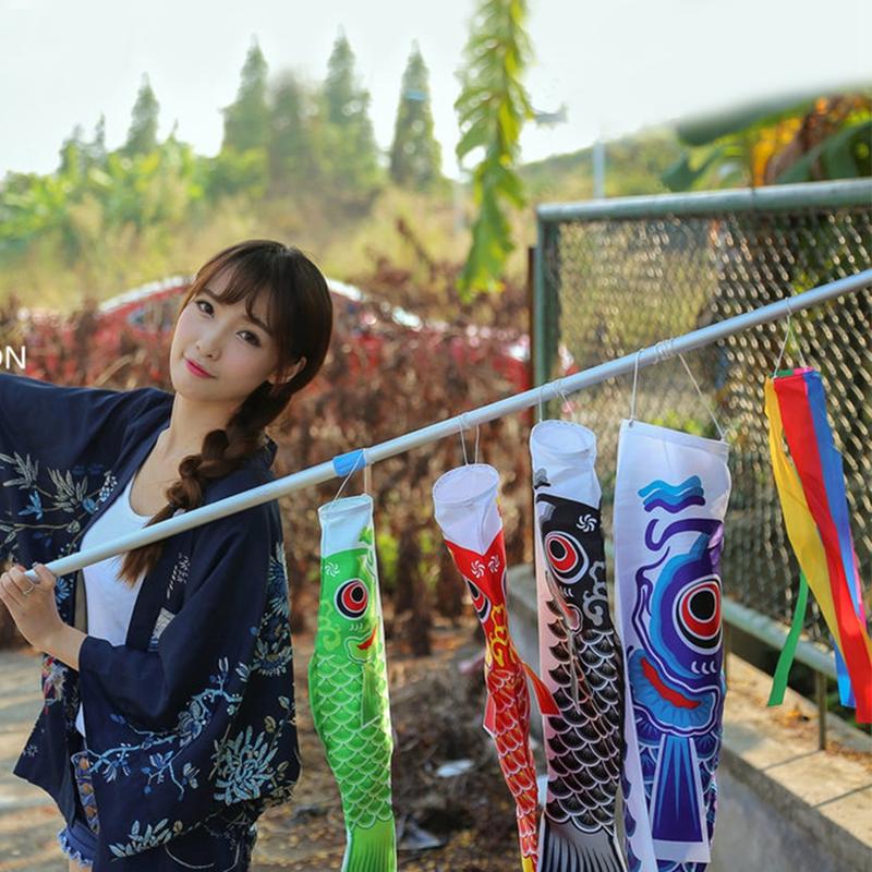 [해외]70cm 노 보리 잉어 바람 양말 Koinobori 다채로운 물고기 깃발 벽 장식 - m15 벽 교수형/70cm Koi Nobori Carp Wind Socks Koinobori Colorful Fish Flag Hanging Wall Decor-m15