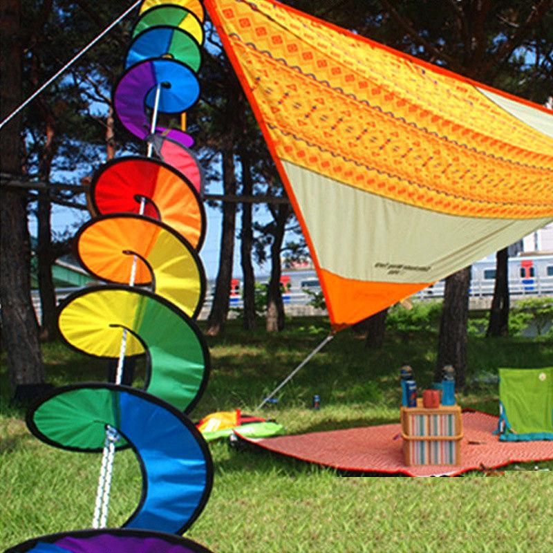 [해외]다채로운 꽃 풍차 트위스터 회 전자 캠핑 텐트 축제 마당 정원 장식 아름 다운 화려한/Colorful Flower Windmill Twister Spinner Camping Tent Festival Yard Garden Decoration Beautiful Co