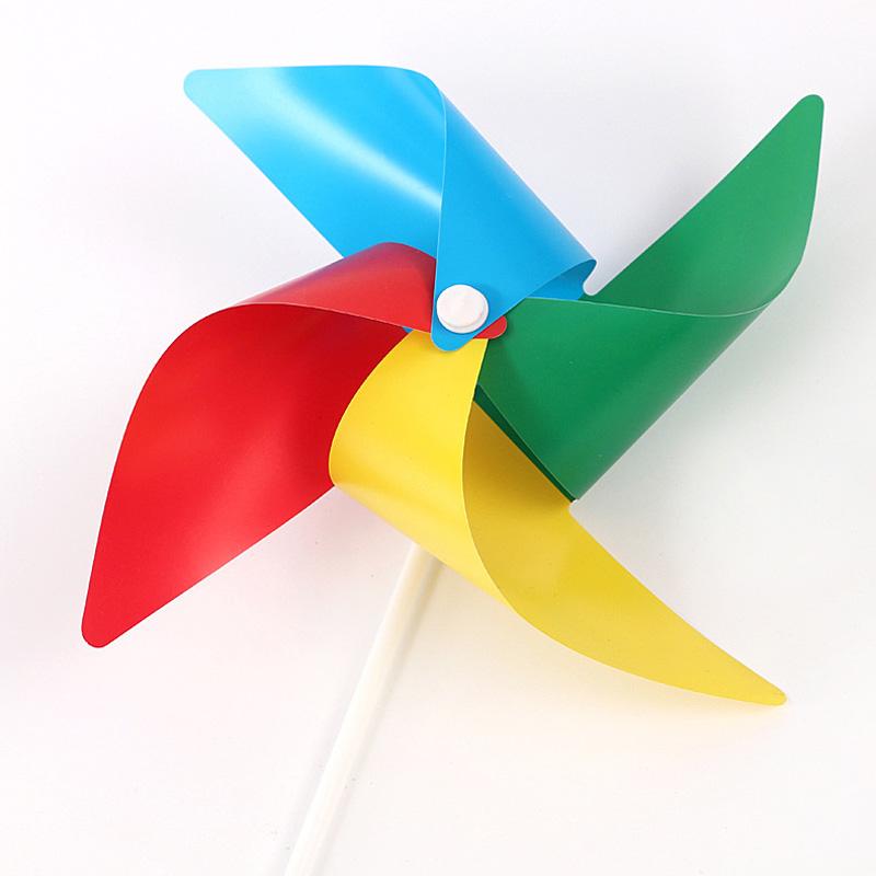 [해외]?100pcs / lot 4 색 DIY 플라스틱 4 잎 풍차 완구 어린이 생일 크리스마스 파티 선물 풍차 어린이 완구/ 100Pcs/lot Four Color DIY Plastic Four-Leaf Windmill Toys Kids Birthday Christm