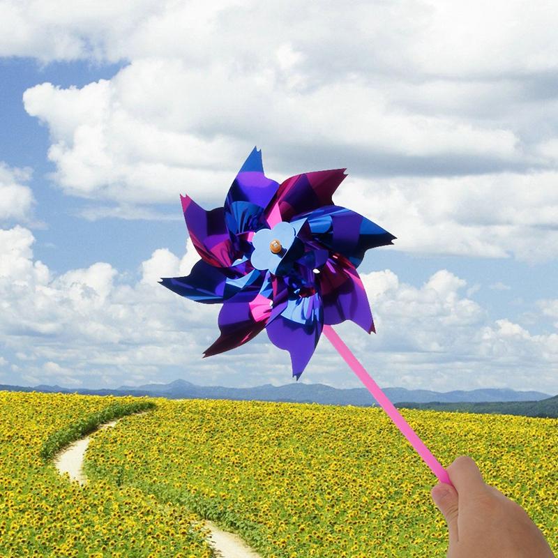 [해외]10Pcs 플라스틱 풍차 바람개비 바람 스피너 아이 장난감 가든 잔디 파티 장식 색상 임의의 배달 -m15/10Pcs Plastic Windmill Pinwheel Wind Spinner Kids Toy Garden Lawn Party Decor Color Ra