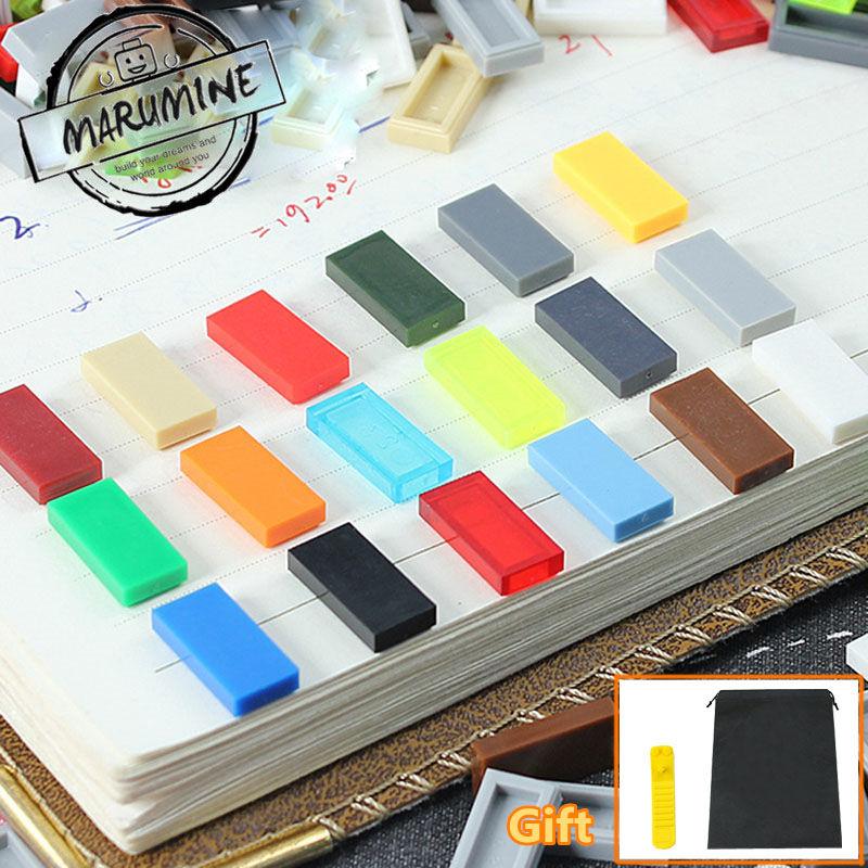 [해외]MARUMINE 타일 1 x 2 교육 빌딩 블록 3069 MOC 호환 벽돌 클래식 DIY 장난감/MARUMINE Tile  1 x 2 educational building blocks 3069 MOC  compatible Bricks Classic DIY toy