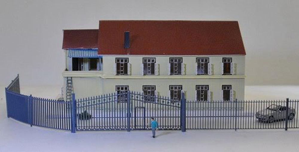 [해외]11pcs 모델 기차 철도 건물 울타리 WallDoor 1 : 150 N 규모 GY46150 새로운 모델 기차 호 스케일 철도 모델링/11pcs Model Train Railway Building Fence WallDoor 1:150 N Scale GY46150
