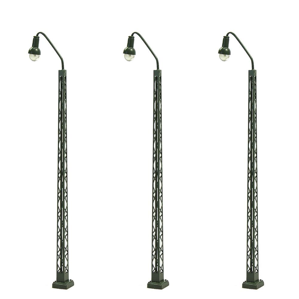 [해외]3pcs 모델 철도 운영 조명 격자 돛대 램프 트랙 조명 HO / TT / N 규모 LQS38-40 LED 조명 모델 구축 키트/3pcs Model Railway operating lights Lattice Mast lamp Track light HO /TT/