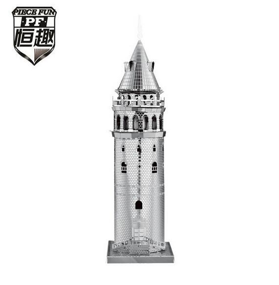 [해외]PIECE FUN 3D 퍼즐 금속 지구 세계 & s 유명한 빌딩 금속 조각 그림 맞추기 금속 터키 갈라 타 모델 빌딩 완구/PIECE FUN 3D Puzzle Metal Earth World&s Famous Building Metal Jigsaw Puzz