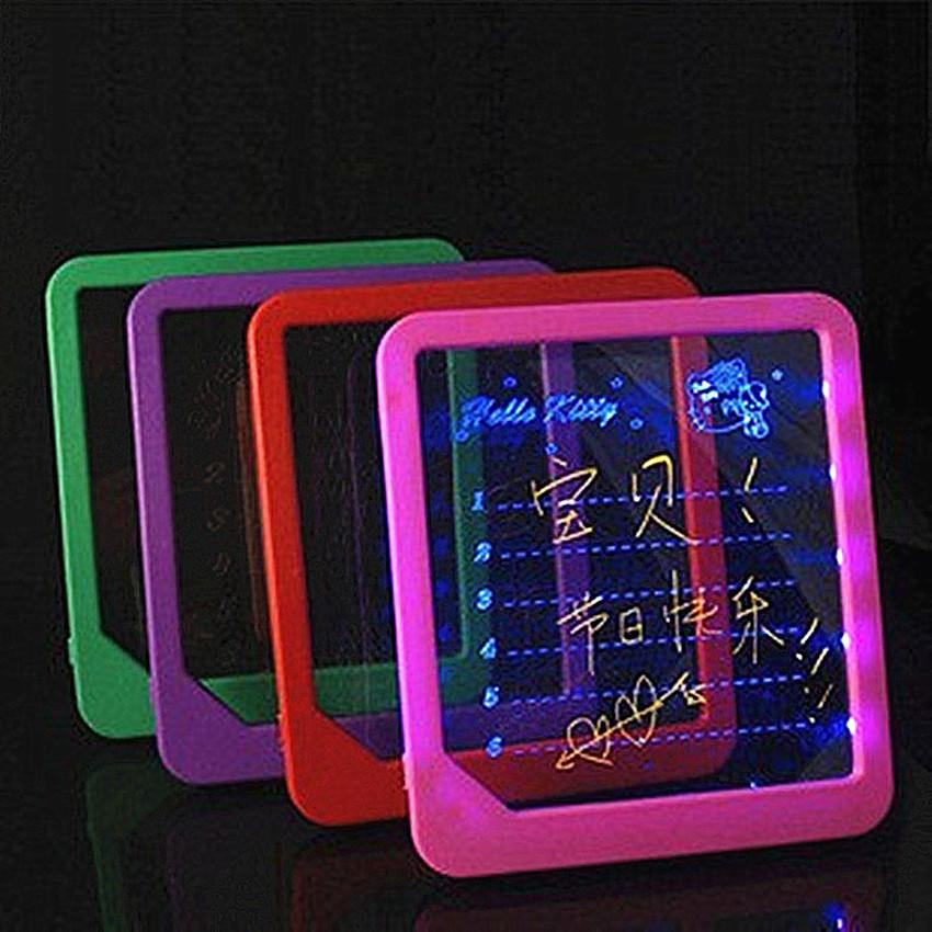 [해외]LED 라이트 형광 워드 패드 게시판 어린이재미있는 라이트 완구 어린이 전자 발광 메시지 보드 필기 패드/LED Light Fluorescent WordPad Billboard  Fun Light Toys for Kids Children Electronic Lu