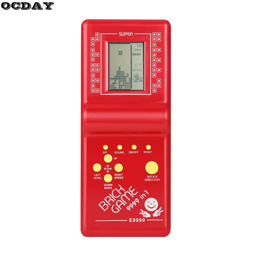 [해외]OCDAY 테트리스 벽돌 게임 클래식 핸드 헬드 게임 기계 레트로 LCD 게임 MachineMusic 어린이를교육 완구 /OCDAY Tetris Brick Game Classic Handheld Game Machine Retro LCD Game MachineMu