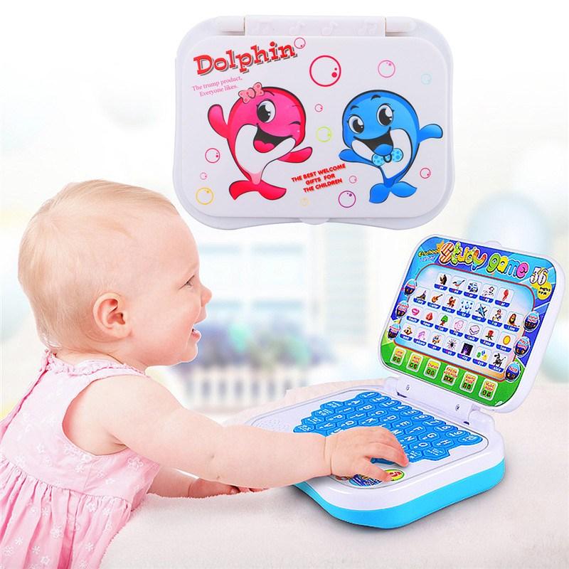 [해외]새로운 접이식 아기 키드 유아 교육 학습 게임 컴퓨터 장난감 학습 기계 장난감 선물 어린이를위한/New Foldable Baby Kid Toddler Educational Study Game Computer Toy Learning Machine Toy Gift