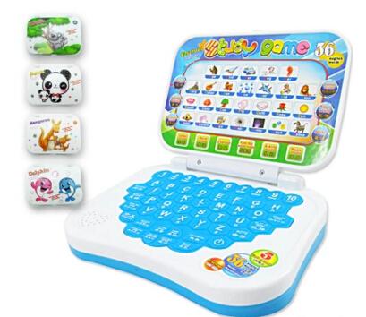 [해외]미니 전자 학교 PC 학습 기계 컴퓨터 노트북 아기 어린이 교육 게임 장난감 전자 노트북 어린이 학습 음악 전화/Mini E-school PC Learning Machine Computer Laptop Baby Children Educational Game To