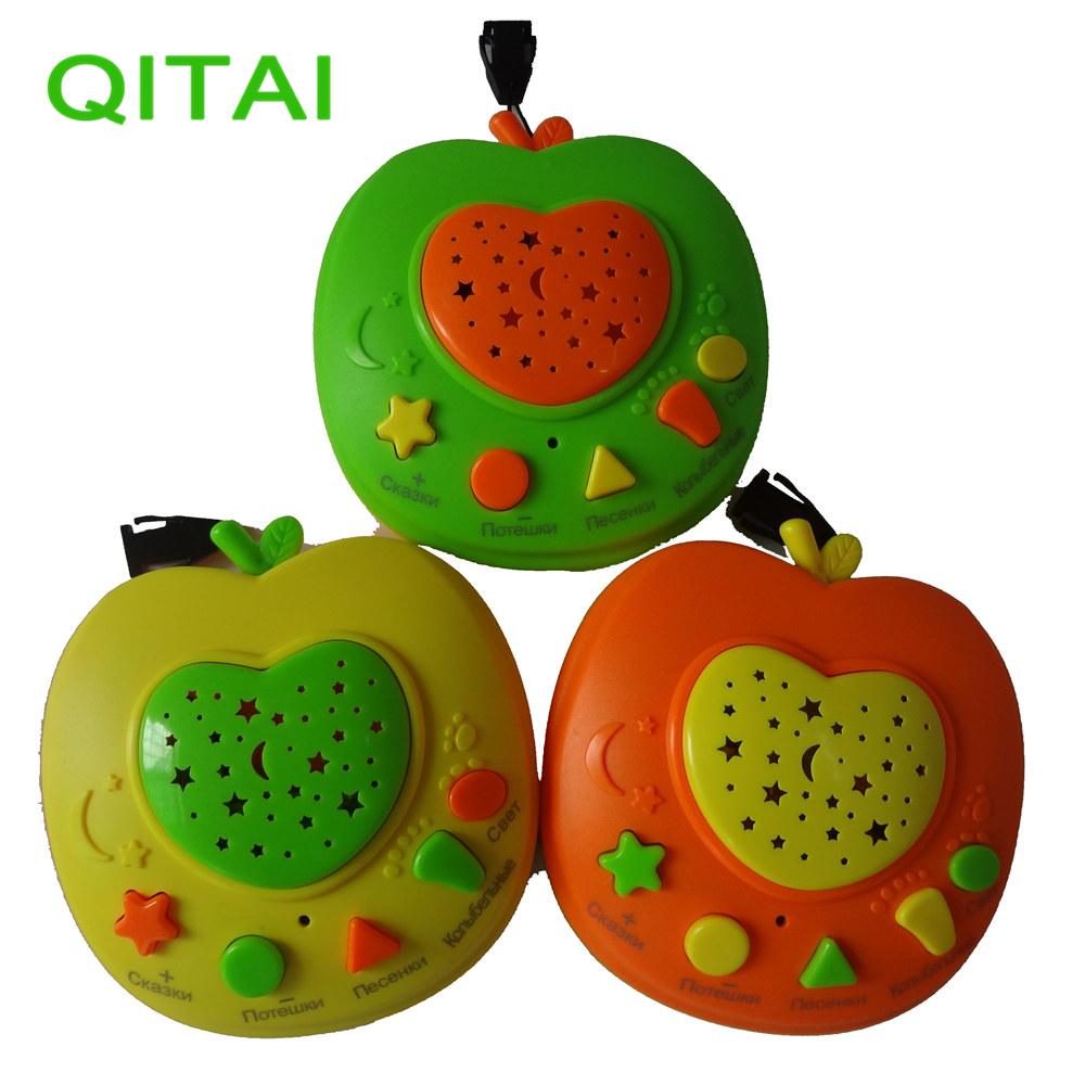 [해외]QITAI 러시아어 이야기 애플 스토리 텔러 특별히 아이들을교육 학습 장난감 이야기 음악 시적 지식 라이트/QITAI Russian Language Apple Stories Teller Specially for kids Educational learning to