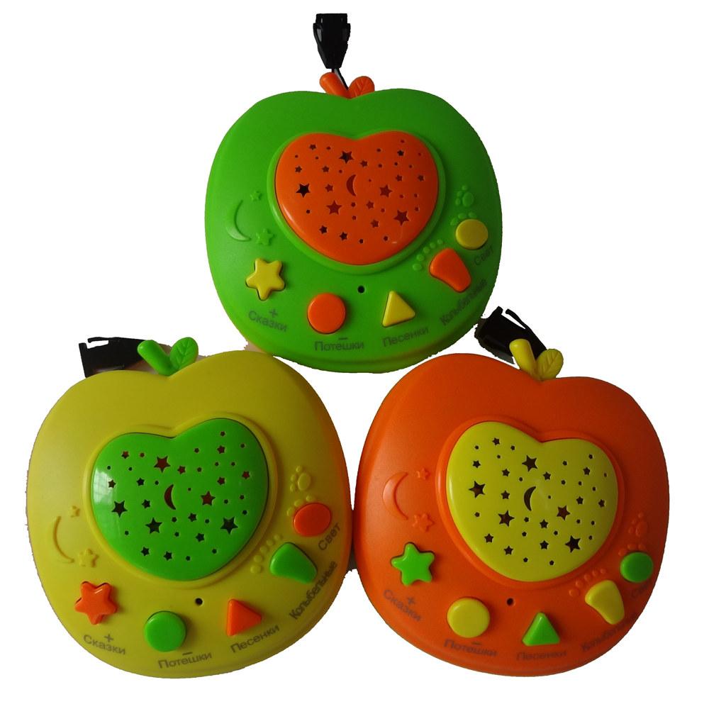 [해외]QITAI 새로운 러시아어 애플 이야기 텔러, 베이비 전화 키즈 교육 장난감 러시아 학습 기계 어린이 교육 학습 장난감/QITAI New Russian Apple Stories Teller,Baby phone kids education toys  Russia L