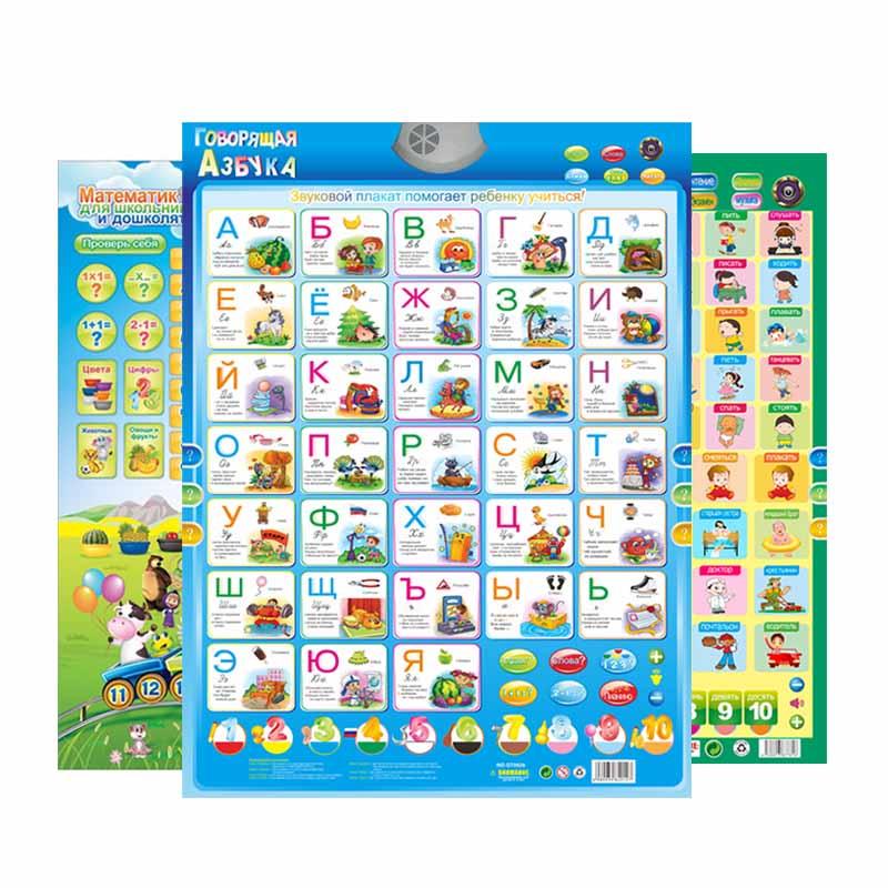 [해외]QITAI 러시아어 음악 알파벳 포스터 러시아 어린이 교육 장난감 전자 ABC 포스터 교육 음성 차트/QITAI Russian Music Alphabet Talking Poster Russia kids Education toys Electronic ABC pos