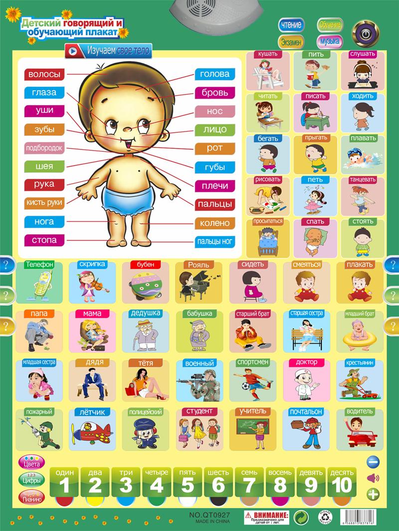 [해외]러시아어 학습 사람 기계 전자 아기 알파벳 음악 장난감 교육 윗 차트 초기 언어 사운드 장난감/Russian Learning people Machine Electronic Baby Alphabet Music Toy Educational Phonetic Chart
