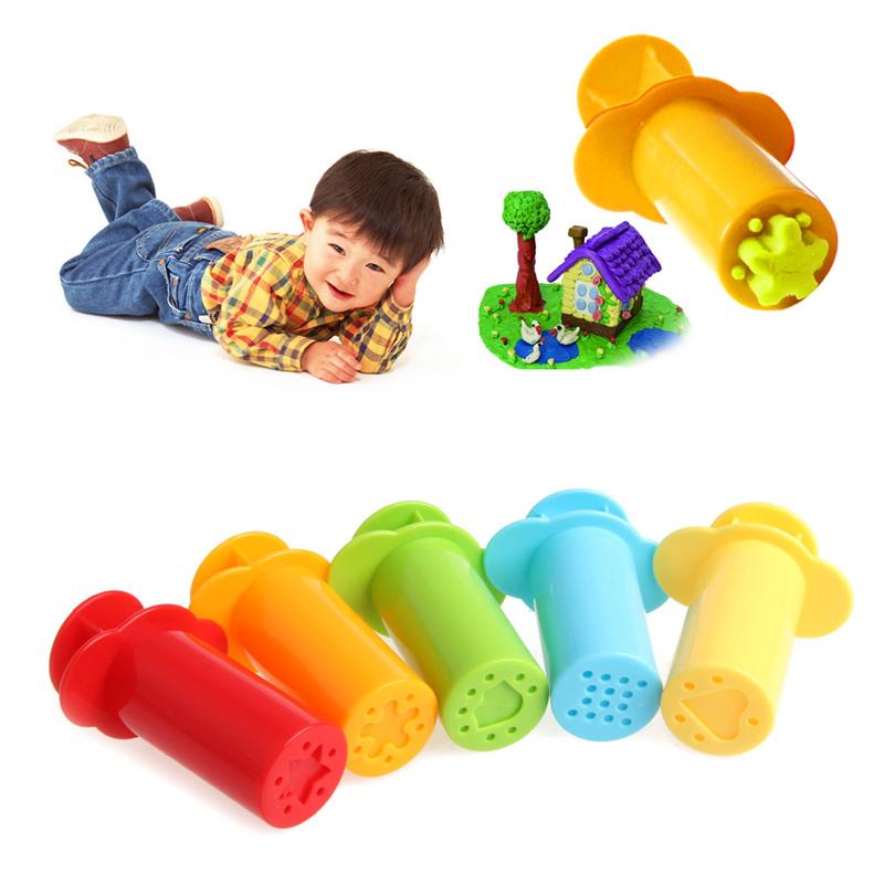 [해외]5pcs / 세트 Plasticine 금형 도구 키트 세트 폴리머 클레이 DIY Love Heart & amp; 별 & amp; 국수 Plasticine 도구 교육 장난감 아이를위한/5pcs/Set Plasticine Mold Tools Set K