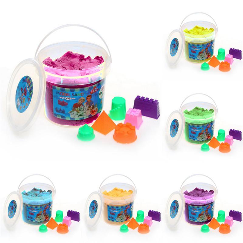 [해외]500g 마법의 배럴당 공간 모래 모래 놀이 모래 장난감 비 독성 Plasticine 모델링 점토 6pcs 금형 도구 선물로 보내기/500g Magic Barrelled Space Sand Children Play Sand Toy Non-toxic Plastic