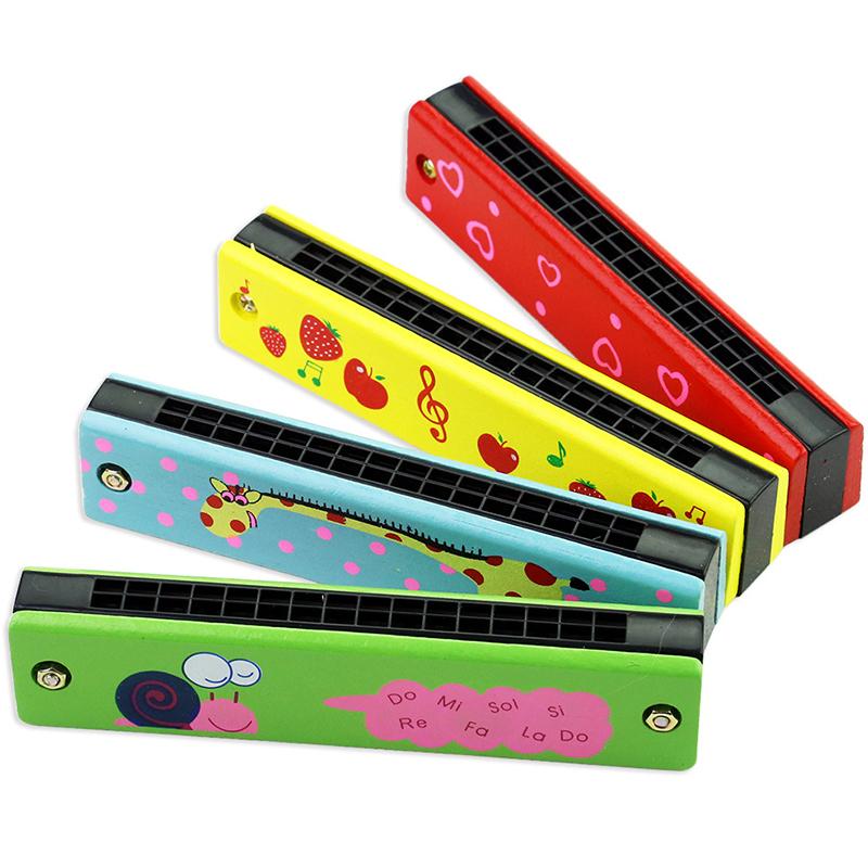 [해외]재미 있은 나무 하모니카 키즈 음악 악기 교육 아동 매력적인 장난감 임의의 색상/Funny Wooden Harmonica Kids Music Instrument Educational Child Attractive Toy Random Color