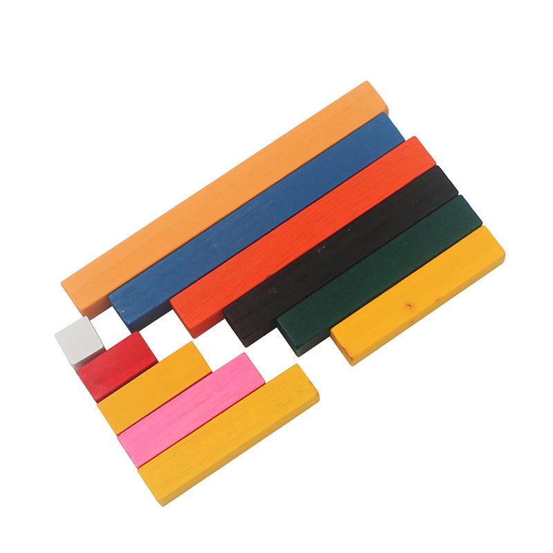 [해외]?몬테소리 재료 나무 수학 장난감 1-10cm 숫자 스틱 다채로운 오름차순 카운트 스틱 유치원 교육 크리스마스/ Montessori Materials Wooden Math Toys 1-10cm Number Sticks Colorful Ascending Count