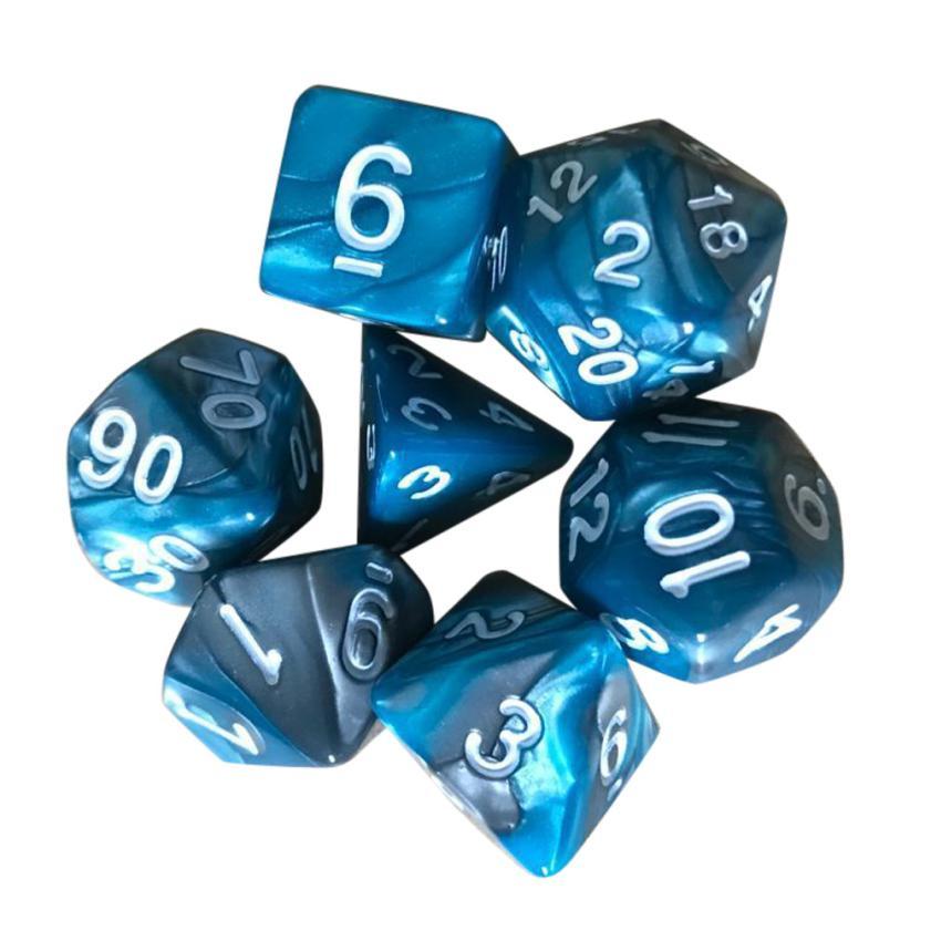 [해외]7pcs / Set TRPG 게임 던전 & amp; 드래곤스 다면체 D4-D20 다 양면 아크릴 주사위 Aug 14/7pcs/Set TRPG Game Dungeons & Dragons Polyhedral D4-D20 Multi Sided Acryl