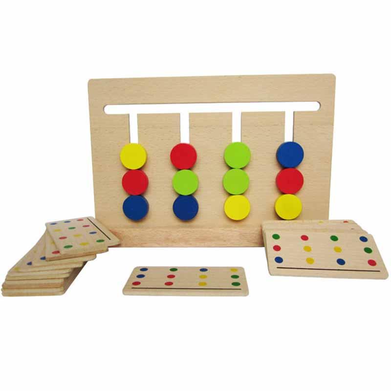 [해외]아기 장난감 몬테소리 4 색 게임 컬러 조기 교육을유치원 교육 학습 완구/Baby Toy Montessori Four Colors Game Color Matching for Early Childhood Education Preschool Training Lear