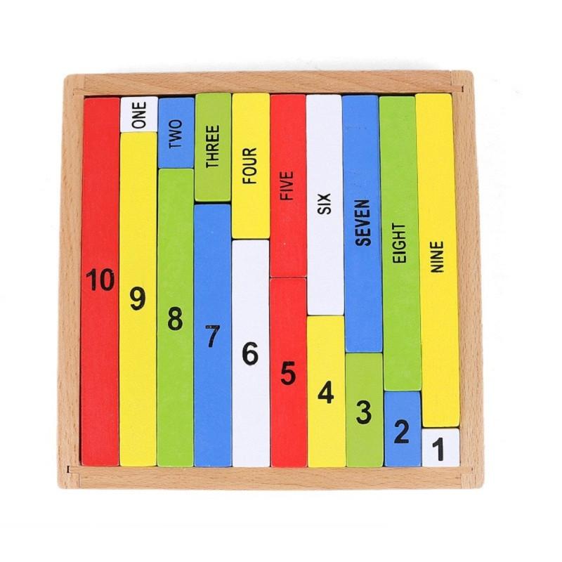 [해외]SUKIToy Jeux Montessori 교육용 나무 장난감 수학 게임 어린이를조기 학습 수와 색상 보드 게임 유치원/SUKIToy Jeux Montessori Educational Wooden Toys Math Games For Kids Early Learn