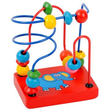 [해외]몬테소리 교육용 장난감 몬테소리 (Montessori) 자료 나무 주위에있는 비즈 장난감 베이비 키즈 ToysBox/Montessori Educational Toys Montessori Materials Wooden Around Beads Toys Baby Ki