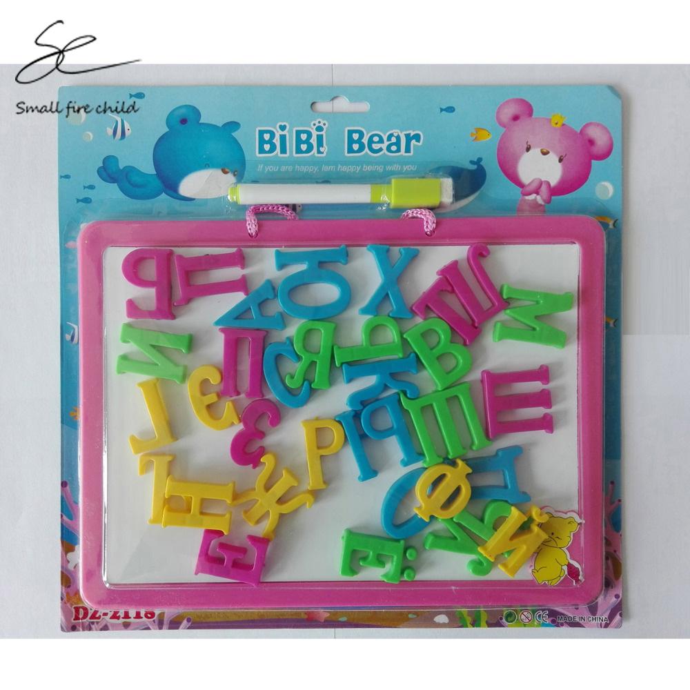 [해외]새로운 러시아어 알파벳 다기능 플라스틱 자석 퍼즐 그리기 학습 및 교육 완구 어린이를취미/New Russian Alphabet Multifunctional Plastic Magnetic Puzzle Drawing Learning and Education Toys