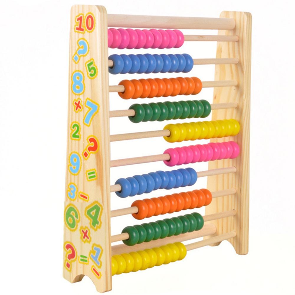 [해외]몬테소리 어린이 수학 장난감 나무 다채로운 너도밤 나무 주 판 교육 학습 유치원 교육/Montessori Kids Math Toys Wood Colorful Beech Abacus Teaching Learning Educational Preschool Train