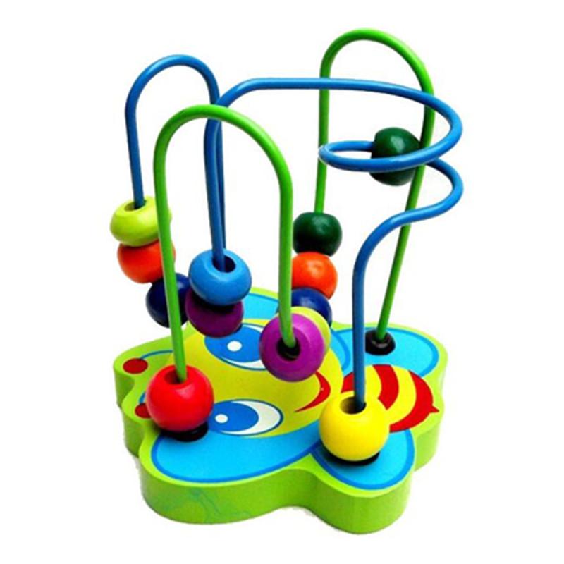 [해외]구슬 주위의 나무 퍼즐 장난감 작은 동물 구슬 장난감 구월 아메리칸 스타일 학습 도구 선물 학습/Wooden puzzle toys around the bead toy animal small beads Eueopean American style Math learn