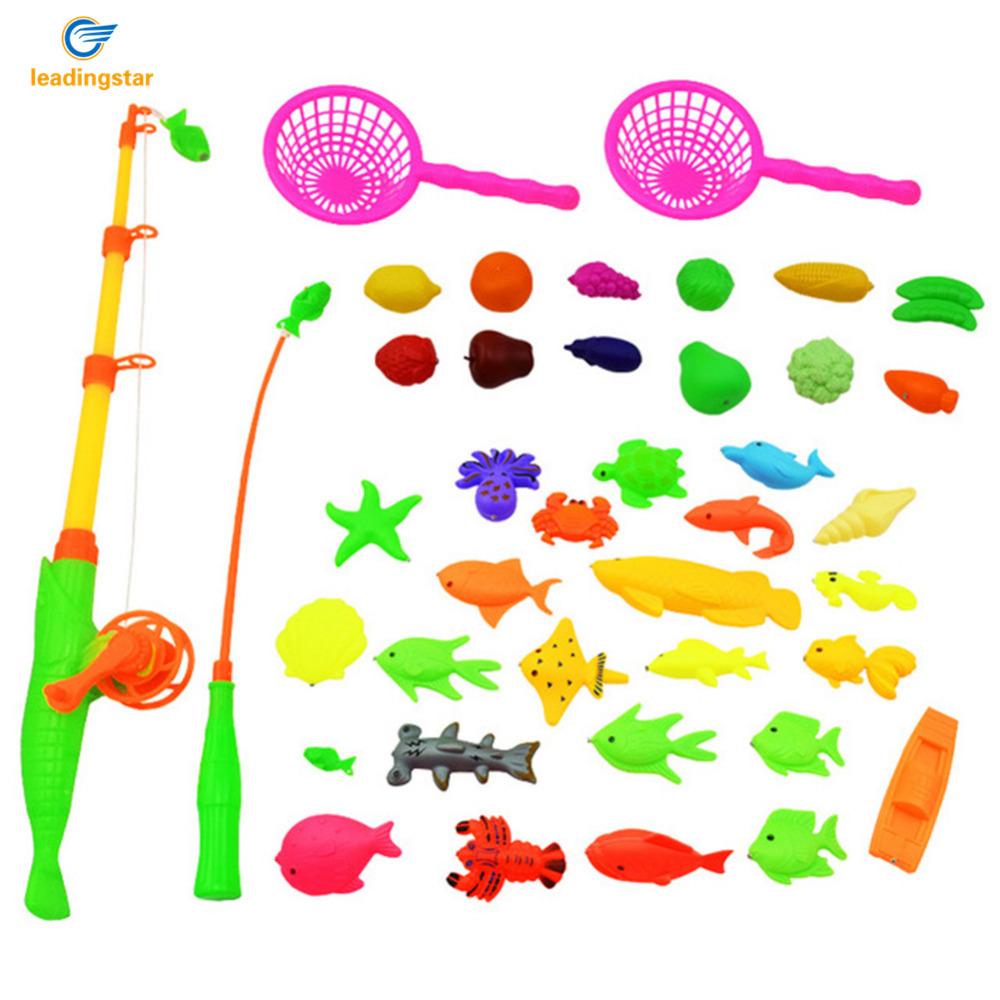 [해외]LeadingStar 40pcs 자기 낚시 Playset 방수 플로팅 피쉬 장난감 야외 게임 목욕 장난감 낚시 SetMagnetic zk30/LeadingStar 40pcs Magnetic Fishing Playset Waterproof Floating Fish