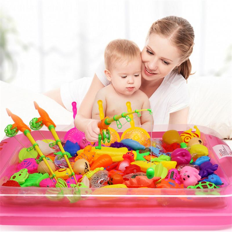 [해외]25pcs / lotInflatable 수영장 자석 낚시 장난감 막대 그물 아이를어린이 모델 놀이 낚시 게임 야외 완구/25pcs/lotInflatable pool Magnetic Fishing Toy Rod Net Set For Kids Child Model