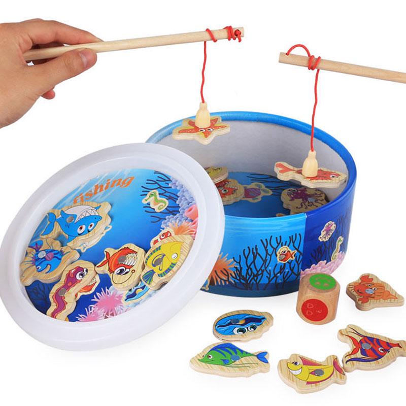 [해외]새로운 어린이 아기 교육 장난감 물고기 20pcsGifts 상자 R301에 대 한 목조 자기 낚시 장난감 세트 게임/New Children Baby Educational Toy Fish Wooden Magnetic Fishing Toys Set Game for