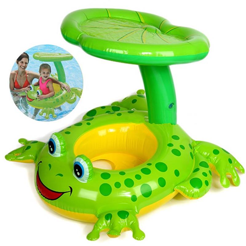 [해외][재밌는] 좌석 플로트 개구리 수영장 액세서리 PVC 어린이 수영장 풍선 수영 동그라미 아기 catoon 풍선 보트 장난감/[ Funny ] Seat Float Frog Swimming Pool Accessories PVC Children Pool Inflata