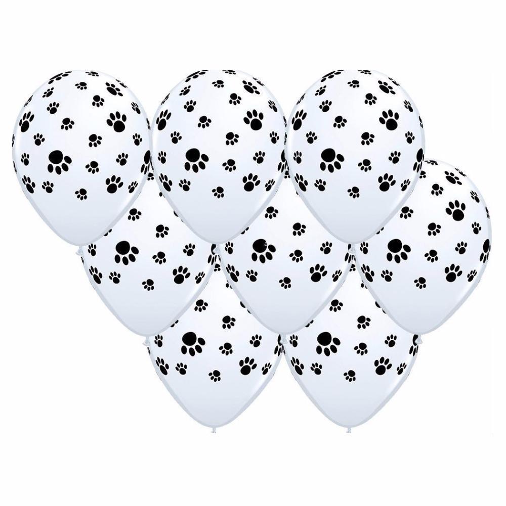[해외]100 PC / lot Dogs Paws Ballooons 파티 용품 용 풍선 볼 블루 발자국 / 발 라텍스 Baalloon Globos/100 PCs/lot Dogs Paws Ballooons Inflatable Balls For Party Supplies B
