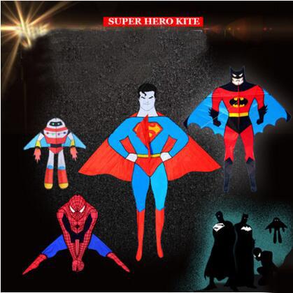 [해외]?높은 품질의 슈퍼 만화 연 spidermanhandle 라인 찢김 나일론 연에게 릴 가방 글라이더 비행 야외 장난감/ high quality super cartoon kite spidermanhandle line ripstop nylon outdoor toys