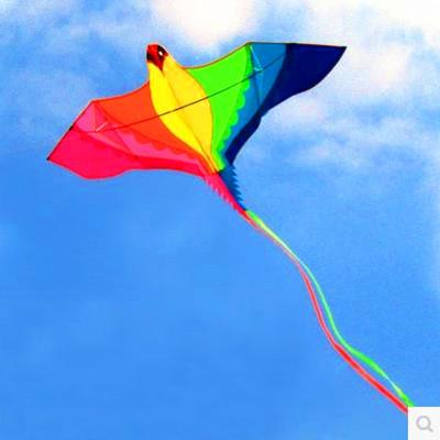[해외]?고품질의 대형 연 날리기 레인보우 피닉스 kitehandle 라인 립 스톱 나일론 야외 장난감 유방 연 새/ high quality large kites flying rainbow phoenix kitehandle line ripstop nylon outdoo