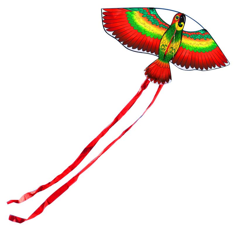 [해외]도매 가격 100Pcs / Lot 110cm / 43inches 앵무새 연 / 동물 연 Handle & amp; 선/Wholesale Price 100Pcs/Lot 110cm/43inches Parrot Kite/ Animal KitesHandle &am
