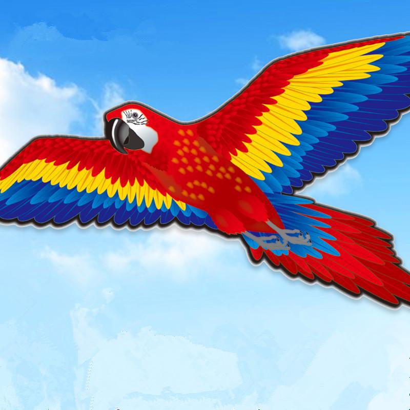 [해외]새 도착 188cm 슈퍼 크리 에이 티브 앵무새 연 스테레오 조류 카이트 flyinglong 꼬리 야외 스포츠 완구 어린이 성인 선물/New Arrival 188cm Super Creative Parrot Kite Stereo bird Kite flyinglon