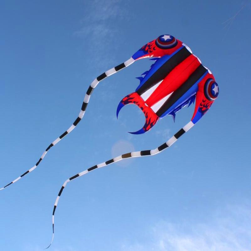 [해외]2017 새로운 디자인 고품질 7square 미터 captain 삼엽충 연 연 연 립 스톱 나일론 직물 연 릴 장난감/2017 new design  high quality 7square meters captain trilobites kite soft kites